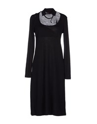 Terre Alte Knee Length Dresses Black