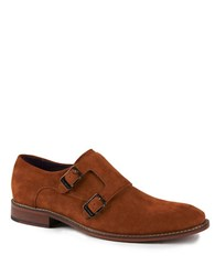 Ted Baker Kartor 3 Suede Double Monk Strap Shoes Tan