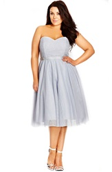 City Chic 'Elsa' Sequin Strapless Lace And Tulle Party Dress Plus Size Powder