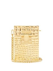 Mark Cross Nicole Gold Plated Cross Body Bag Gold