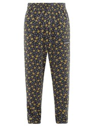 Martine Rose Logo Patch Floral Fleece Track Pants Blue