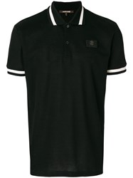 Roberto Cavalli Logo Plaque Polo Shirt Cotton Black