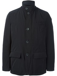 Herno Buttoned Down Jacket Blue