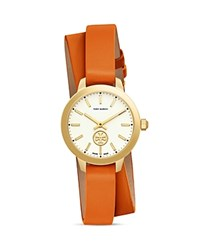 Tory Burch Collins Double Wrap Watch 32Mm Orange