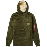 Alpha Industries Hooded Popover Anorak Green