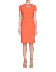 1.State Peekaboo Cap Sleeve Dress Orange