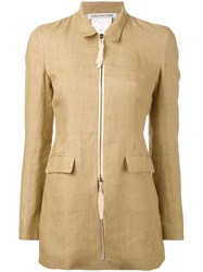 Cherevichkiotvichki Fitted Zip Front Jacket Nude And Neutrals