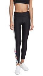 Terez Stripe Leggings Black Bright