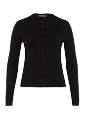 Hallhuber Crop Cardigan With Decorative Buttons Black