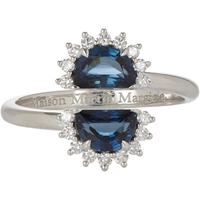 Maison Martin Margiela Fine Sapphire And Diamond 'Pompadour' Split Ring