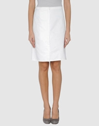 Kostas Murkudis Knee Length Skirts White