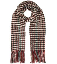 Isabel Marant Alva Wool And Cashmere Scarf Multicoloured