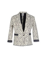 Tanomu Ask Me Suits And Jackets Blazers Women Ivory