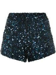 Manish Arora Two Tone Shorts Nylon Polyester Blue