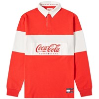 Tommy Jeans X Coca Cola Rugby Shirt Red