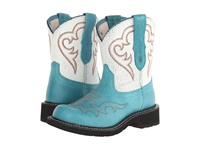 Ariat Fatbaby Heritage Harmony Peacock White Crackle Cowboy Boots Blue