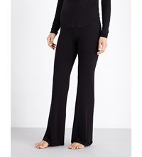 Wildfox Couture Lounge Stretch Jersey Pyjama Bottoms Clean Black
