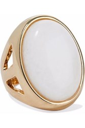 Kenneth Jay Lane Gold Tone Stone Ring Gold