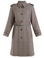 Red Valentino Houndstooth Trench Coat Red Multi