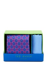 Ted Baker Chloe Medallion Silk Tie And Handkerchief Multi