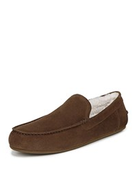 Vince Gino Velour Suede Loafers Brown