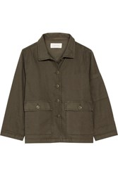 The Great Station Canvas Jacket Army Green