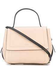 Dkny Foldover Tote Women Leather One Size Nude Neutrals