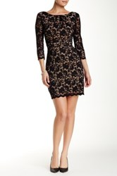 Abs By Allen Schwartz 3 4 Length Sleeve Lace Dress Black