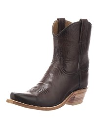 Lucchese Gaby Leather Western Boots Chocolate