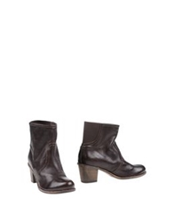 Rosamunda Ankle Boots Dark Brown