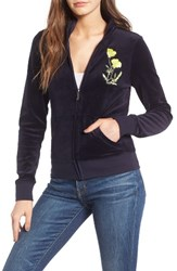 Juicy Couture Women's Pretty Thing Fairfax Velour Track Jacket Regal