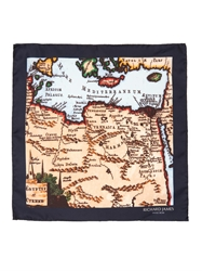 Richard James Map Print Silk Pocket Square