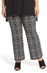 Vince Camuto Plus Size Women's Graphic Print Pull On Pants Rich Black