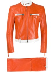 Jean Paul Gaultier Vintage Cropped Jacket And Trousers Orange