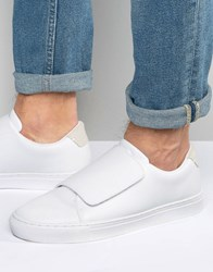 Asos Trainers In White With Strap White