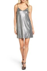 One Clothing Sequin Shift Dress Gray