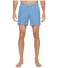 Lacoste All Over Print Short Length Thermal Blue White Men's Swimwear