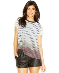 Rachel Rachel Roy Petra Top Short Sleeve Crew Neck Printed Top