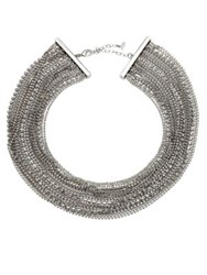 Abs By Allen Schwartz Out Last Night Multi Strand Necklace Silver