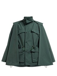 Toga High Neck Technical Cape Jacket Green