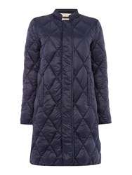 Part Two Stylish Soft Quilted Fabric Coat Navy