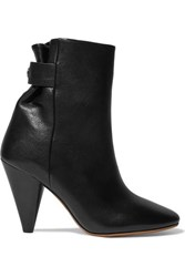 Isabel Marant Lystal Leather Ankle Boots Black