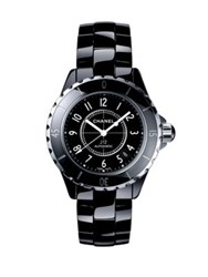 Chanel J12 Ceramic And Stainless Steel Bracelet Watch Black