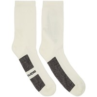 Rick Owens White Stripe Short Socks