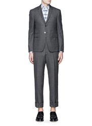 Thom Browne Wool Step Twill Suit Grey