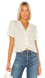 Bcbgeneration Boxy Short Sleeve Top In Ivory. Multi