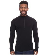 Icebreaker Everyday Long Sleeve Zip Black Men's Long Sleeve Pullover