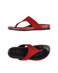 Rebeca Sanver Thong Sandals Black