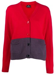 Paul Smith Ps Button Up Cardigan Red