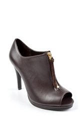 Ann Marino Expo Peep Toe Bootie Brown